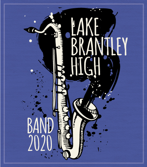 High School Band T-Shirt Saxophone