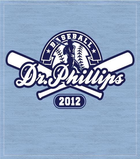 Baseball T-shirt Crossed Bats