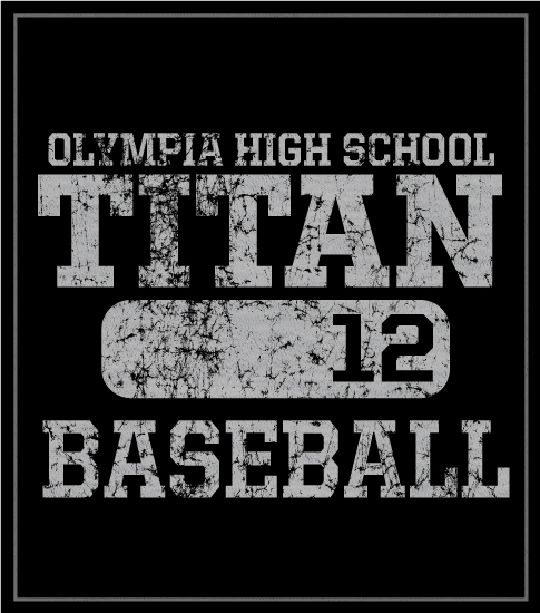 Baseball T-shirt Distressed
