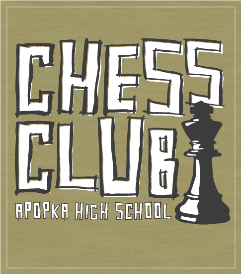 Hand Drawn Chess Club T-shirt