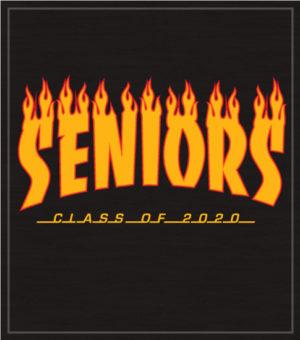 Class of 2020 Senior Skateboard T-shirt