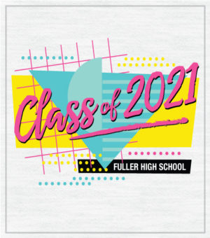 Class of 2021 Retro Eighties T-shirt