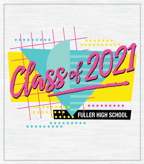 Class of 2021 Retro Eighties T-shirt