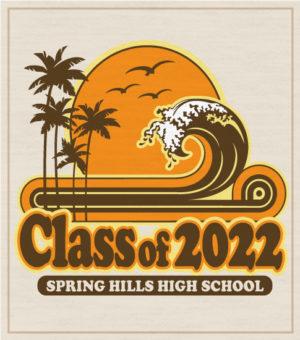Class of 2022 Retro Surf T-shirt