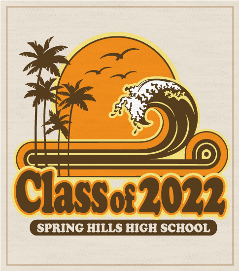 Class of 2022 Retro Surf T-shirt
