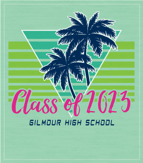 Class of 2023 Retro Palms T-shirt