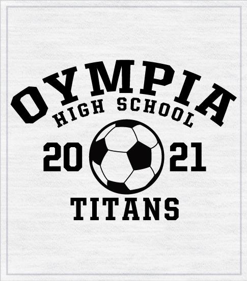 Collegiate Style Soccer T-shirt