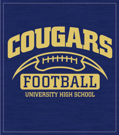 Cougars Half Football T-shirt