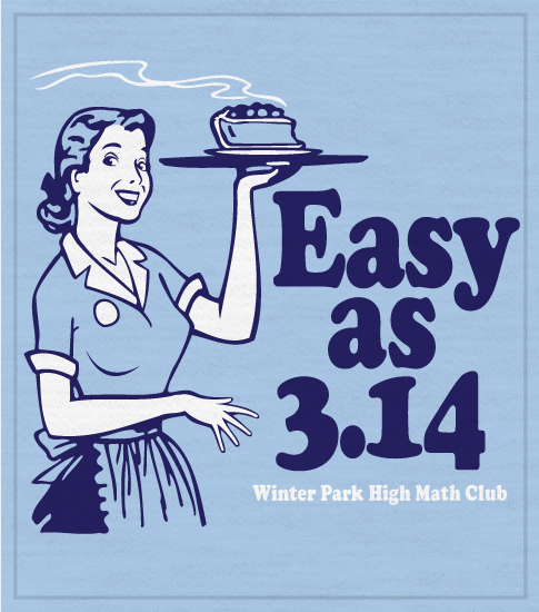 Easy as Pi T-shirt Math Club