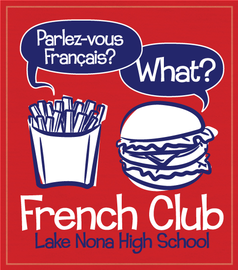 French Club T-shirt-Hamburger