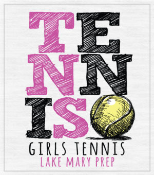 Girls Tennis Team T-shirt