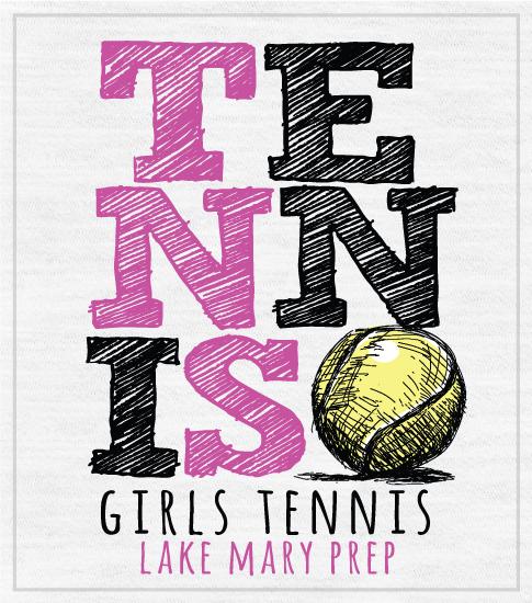Girls Tennis Team T-shirt