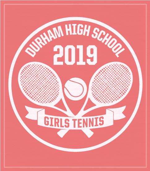 Girls Tennis Racquet T-shirt