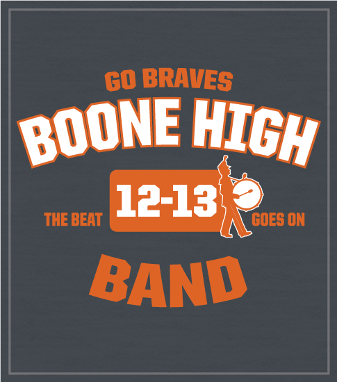 High School Marching Band T-shirt Arched