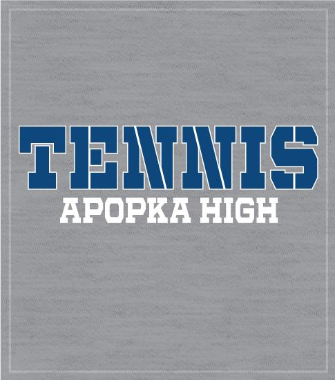 High School Tennis Team T-shirt