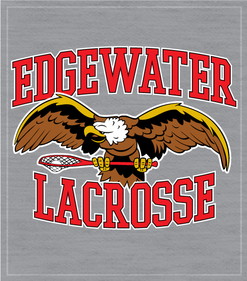 Lacrosse T-shirt Eagle With Stick