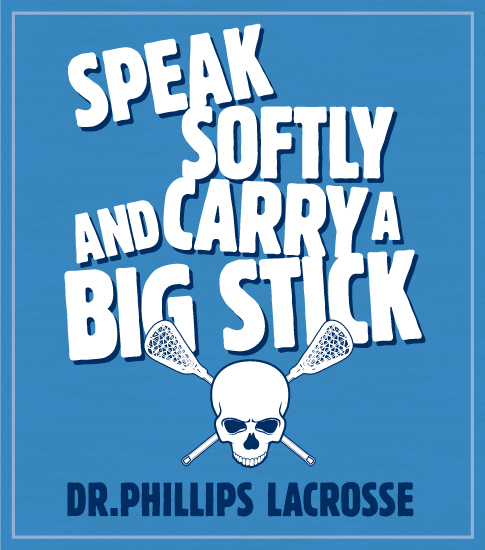 Lacrosse Team T-shirt Big Stick