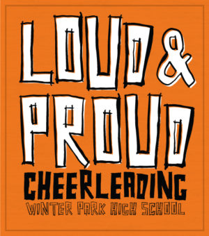 Cheer T-shirt Loud and Proud