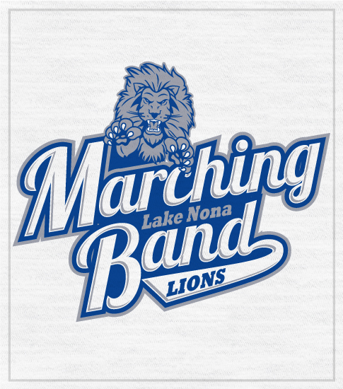 Marching Band T-shirt Lions