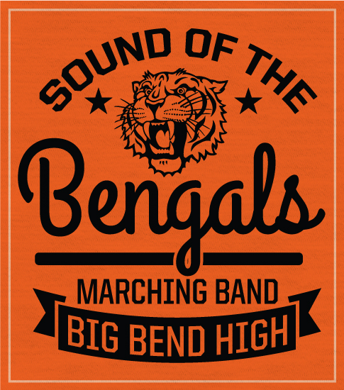Marching Band T-shirt Orange