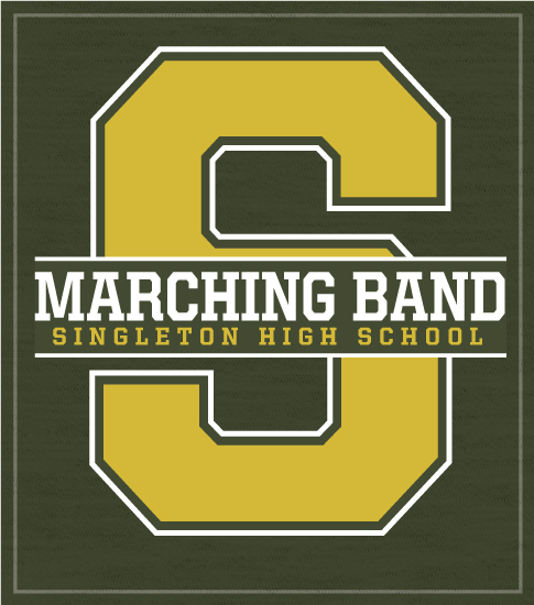Marching Band T-shirt Big Letter