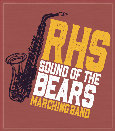 Marching Band T-shirt Saxophone