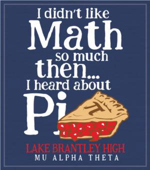 Mu Alpha Theta T-shirt Pi