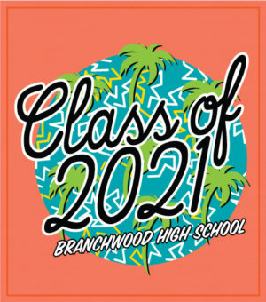 Retro Class of 2021 T-shirt