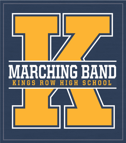 School Band T-shirt Big Letter