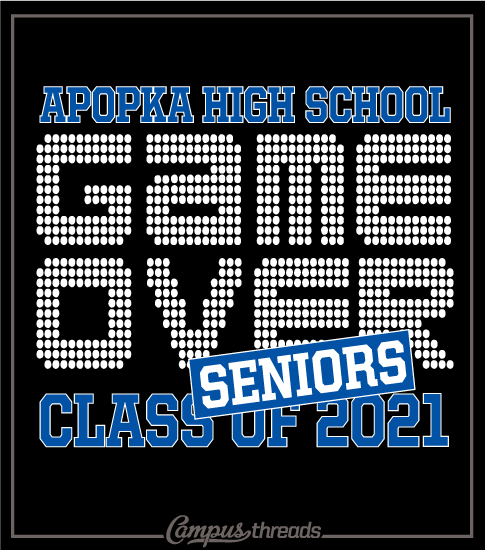Senior Class T-shirt Game Over