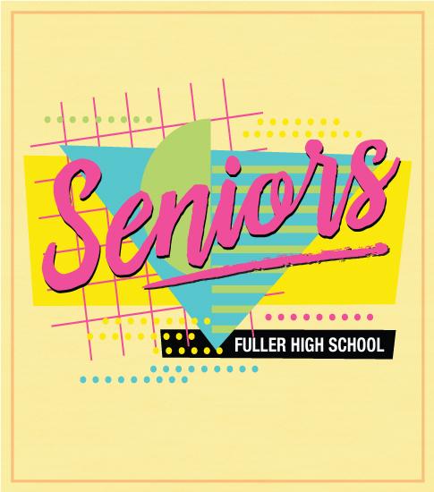 Senior Class T-shirt Retro