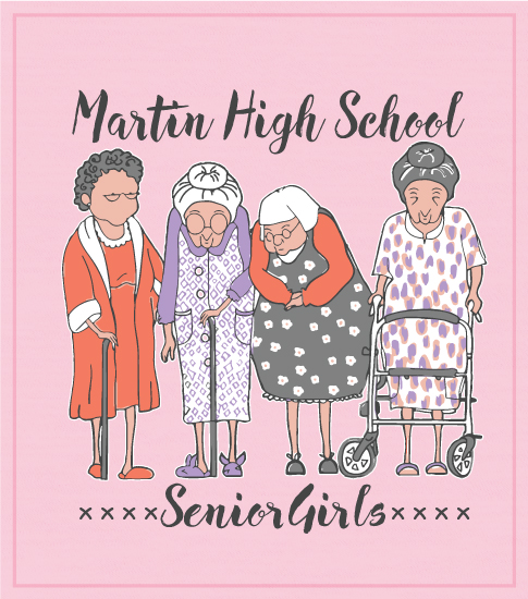 Senior Girls T-shirt Pink