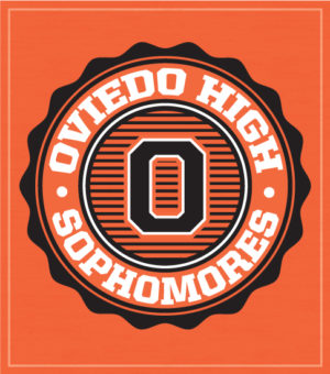 Sophomore T-shirt Orange Circle