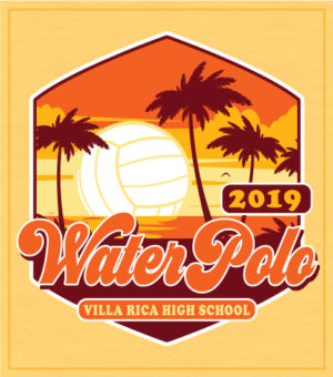Retro Sunset Water Polo T-shirt