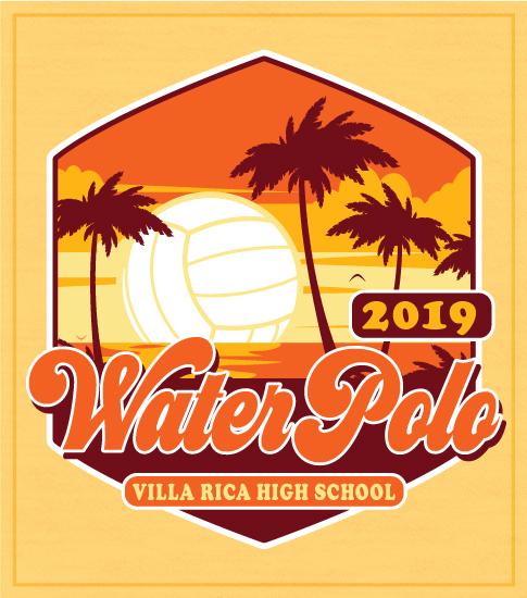 Retro Sunset Water Polo T-shirt