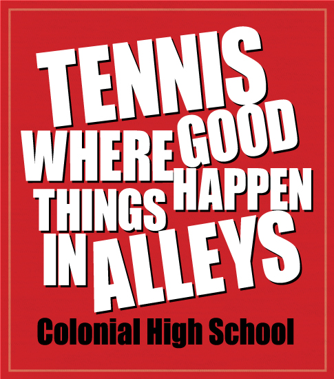 Tennis Team T-shirt Alleys