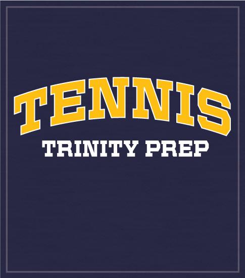 Arched Tennis Team T-shirt Blue