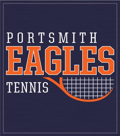 Tennis Team T-shirt Half Racquet