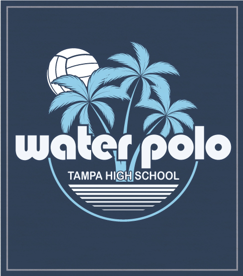 Water Polo T-shirt Palm Tree