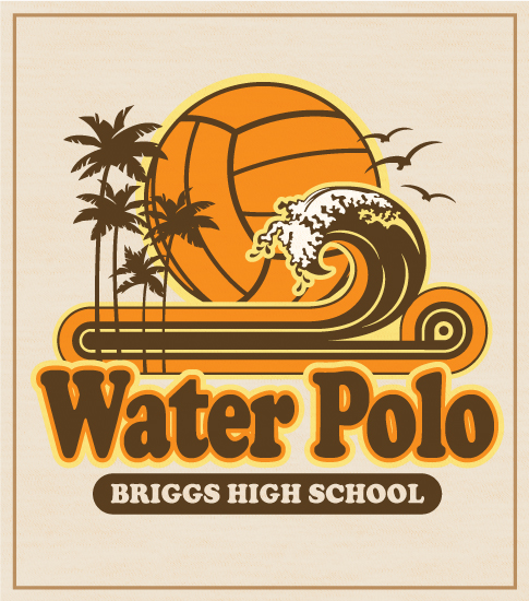 Retro Wave Water Polo T-shirt
