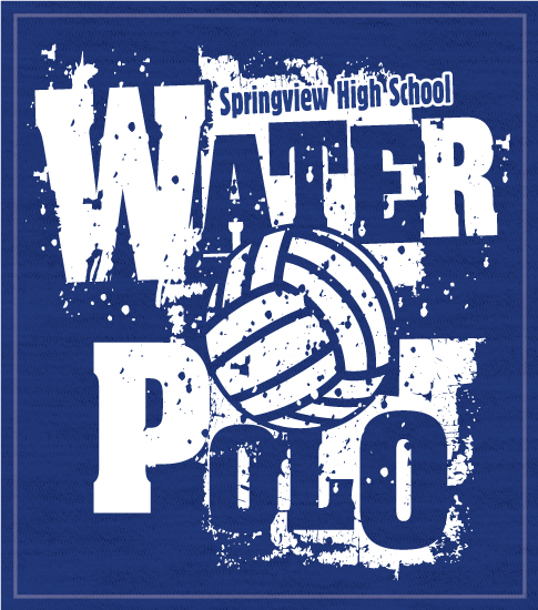 Rough Font Water Polo T-shirts