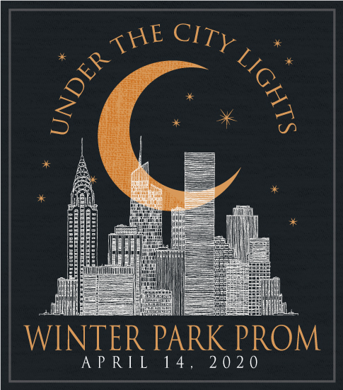 Moonlight on City Prom T-shirt