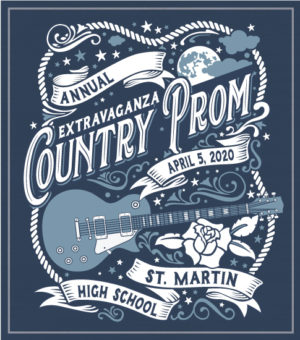 Country Guitar Prom T-shirt