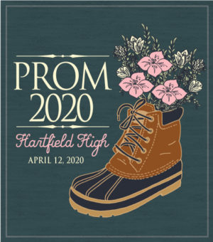 Prom T-shirt Preppy Boot