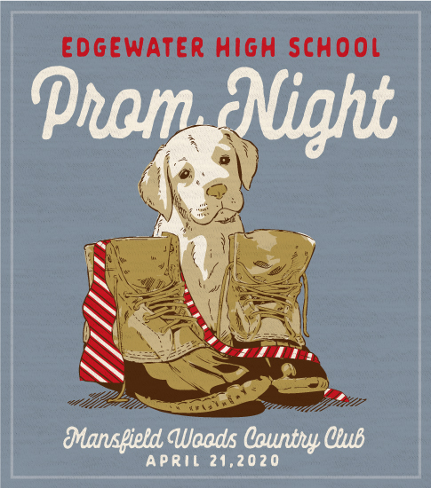 Prom T-shirt Preppy Dog