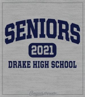 Senior Class T-shirt Arched