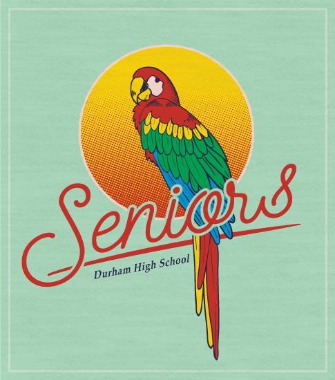 Senior Class T-shirt Parrot