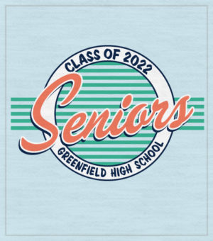 Senior Class T-shirt Retro Seventies