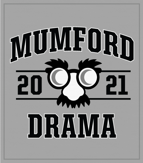 Drama Club T-shirts Arched Type