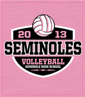 8700 Girls Volleyball T-Shirt Shield